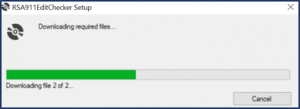 downloading progress bar window
