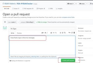 github: create a pull request