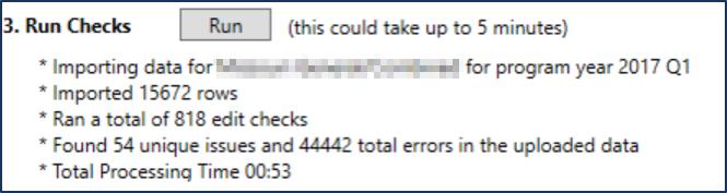 Run Checks in RSA-911 extract file